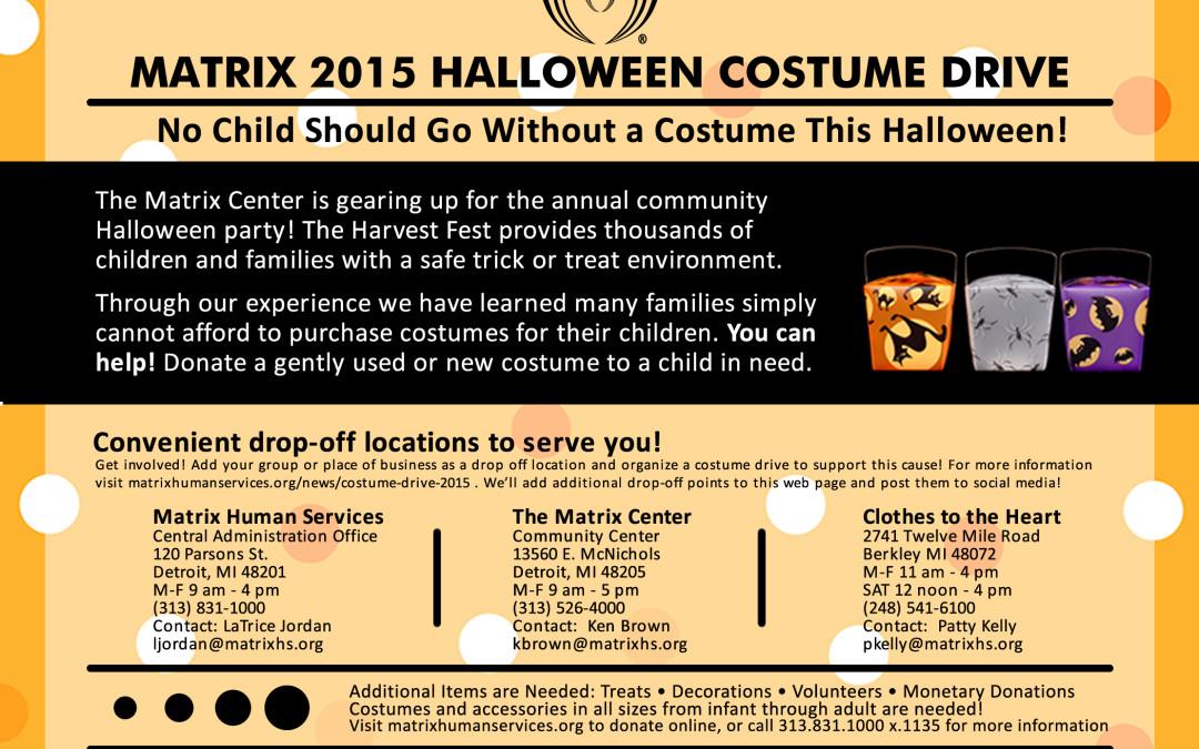 Halloween Costume Drive 2015