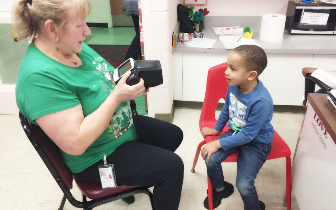 Our Matrix Head Start's hearing and vision screening!