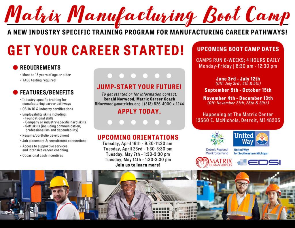 Matrix Manufacturing Boot Camp Orientation | Matrix Human