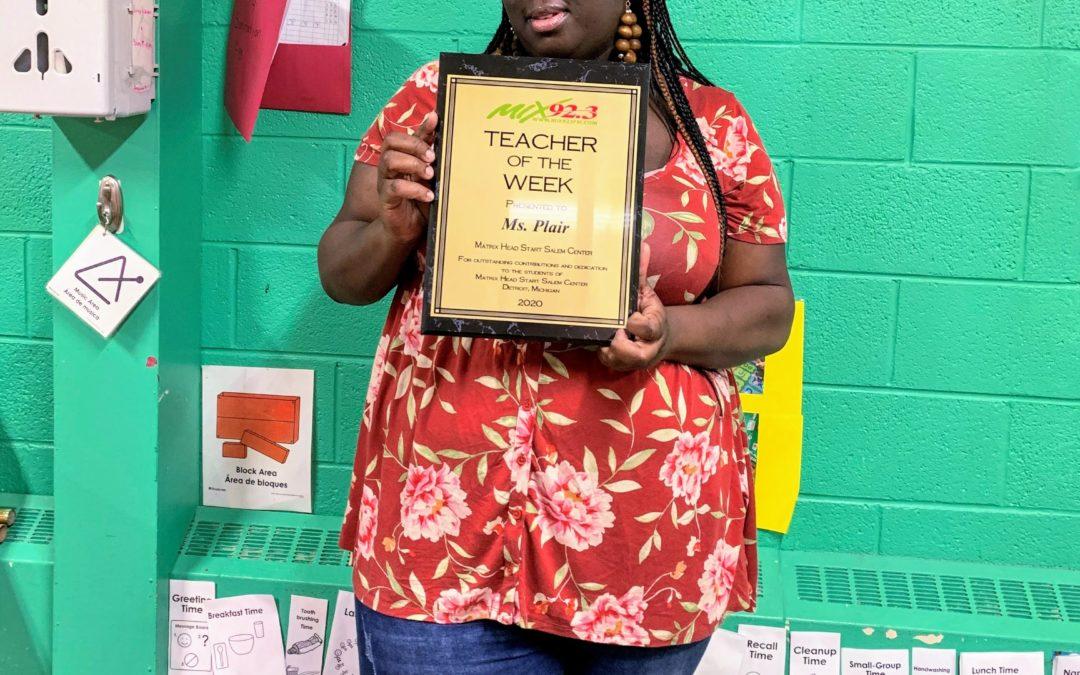 Matrix Head Start Teacher Receives 'Teacher of the Week' Award