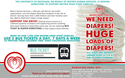 University of Michigan Diaper and Bus Ticket Drive