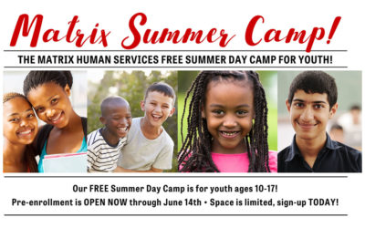 Our FREE Summer Day Camp for youth ages 10-17!