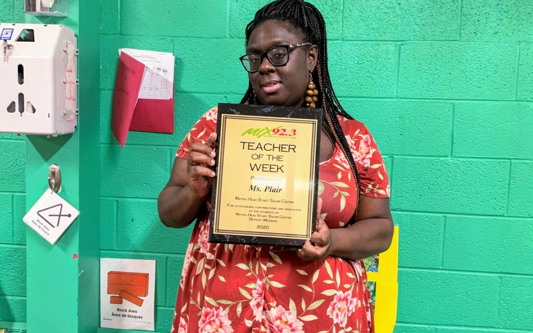 Matrix Head Start Teacher Receives 'Teacher of the Week' Award