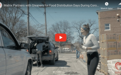 Matrix + Gleaners Food Distribution Day Makes News and Draws Over 500 Families