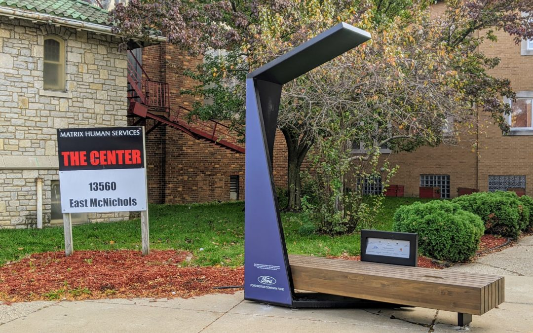 Ford Motor Company Fund Donates A Smart Bench To The Matrix Center