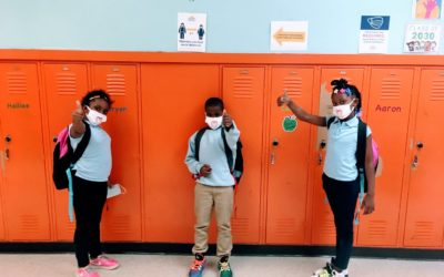 Matrix Distributes Book-Bags and Face Masks to 3 Detroit Schools
