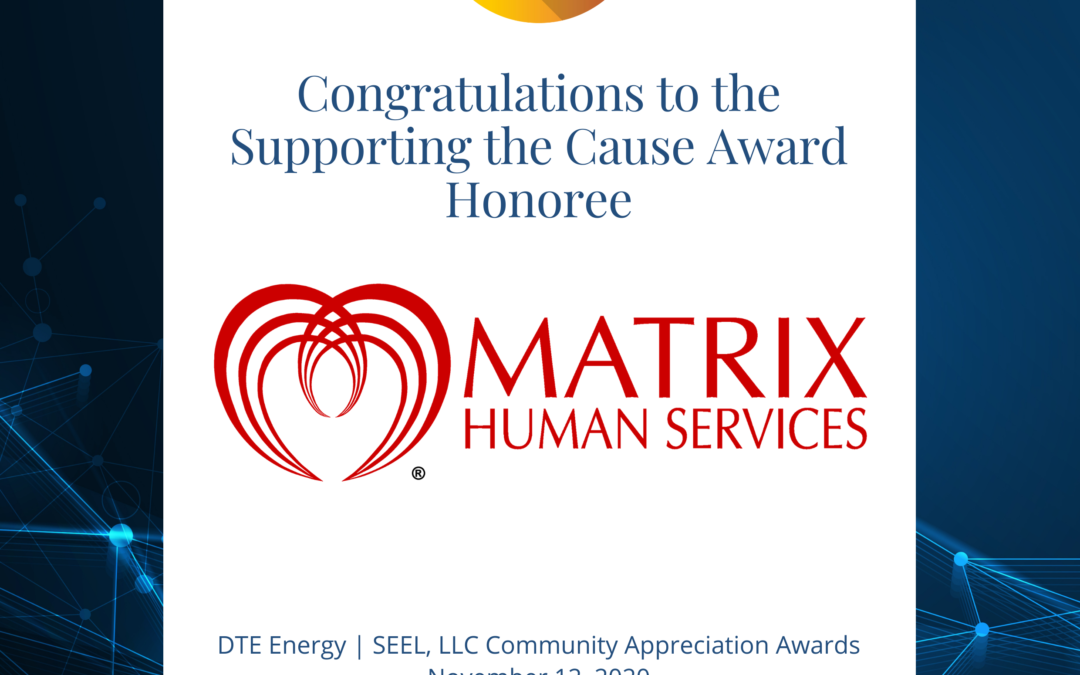Matrix Human Services Receives Award for Outstanding Commitment to Advancing Energy Efficiency in the Community