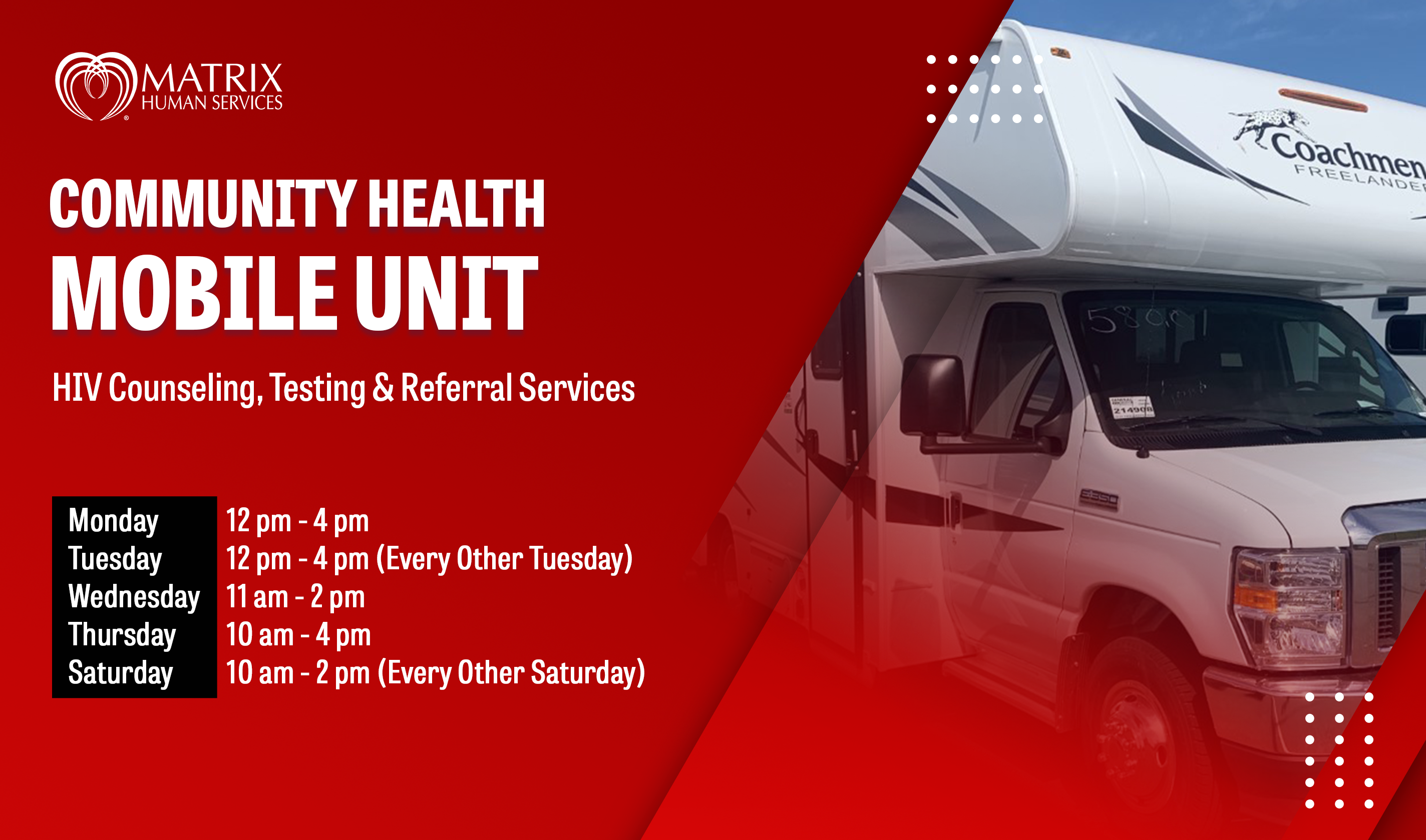 Community Health Mobile testing Unit