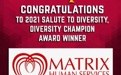 Matrix Receives Diversity Champion Award From Corp!